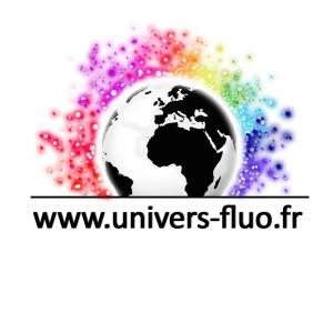 Logo Univers fluo ecriture noire sans fond
